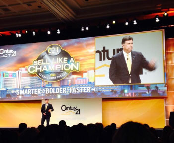 Gary Acosta, NAHREP Co-founder & CEO speaking at The Century 21 Global Conference in Las Vegas