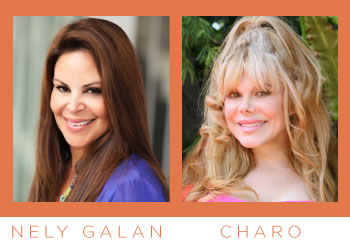 Nely Galan and Charo